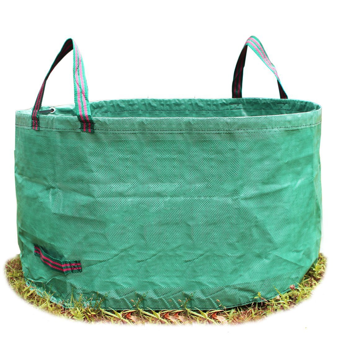 SYOOY 63 Gallon Garden Tool Trash Bag Green Lawn Garbage Storage Bag with Handles for Outdoor Garden Lawn - 18 Inches Height x 32 Inches Width