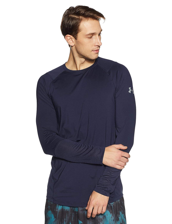 Under Armour Men& 039;s MK-1 Long Sleeve Shirt, Midnight Navy/Steel, XX-Large
