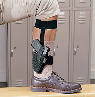 Uncle Mike's Off-Duty and Concealment Kodra Nylon Ankle Holster (Black, Size 12, Right Hand)