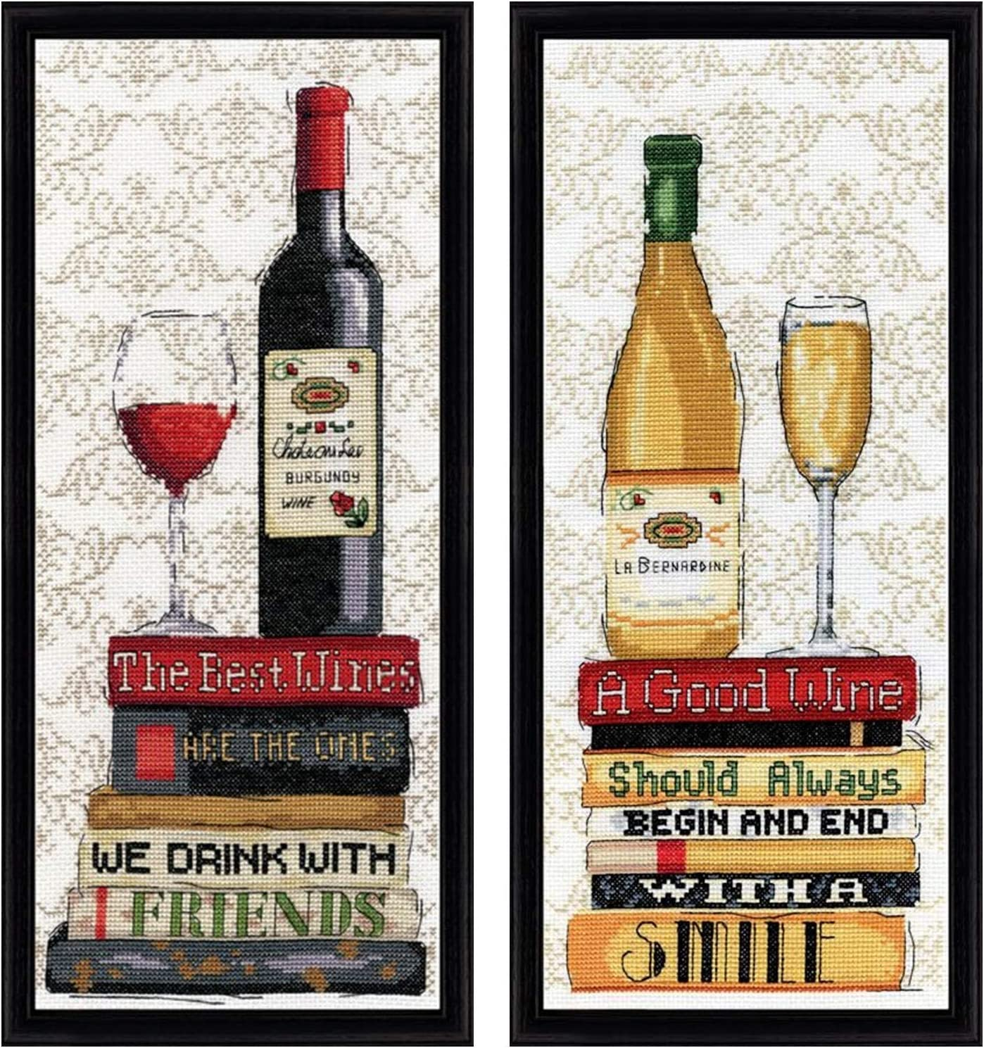 STILL LIFE WITH RED WINE Counted Cross Stitch Kit RIOLIS