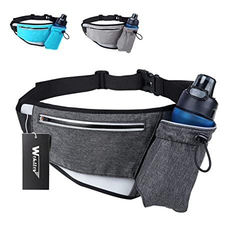 6b67ddfa1f13 Hiking Fanny Packs for Women Men, Fanny Pack with Water Bottle Holder,  Running Hydration Belt Bags Reflective Waist Bag for Walking, Travel,  Cycling, ...