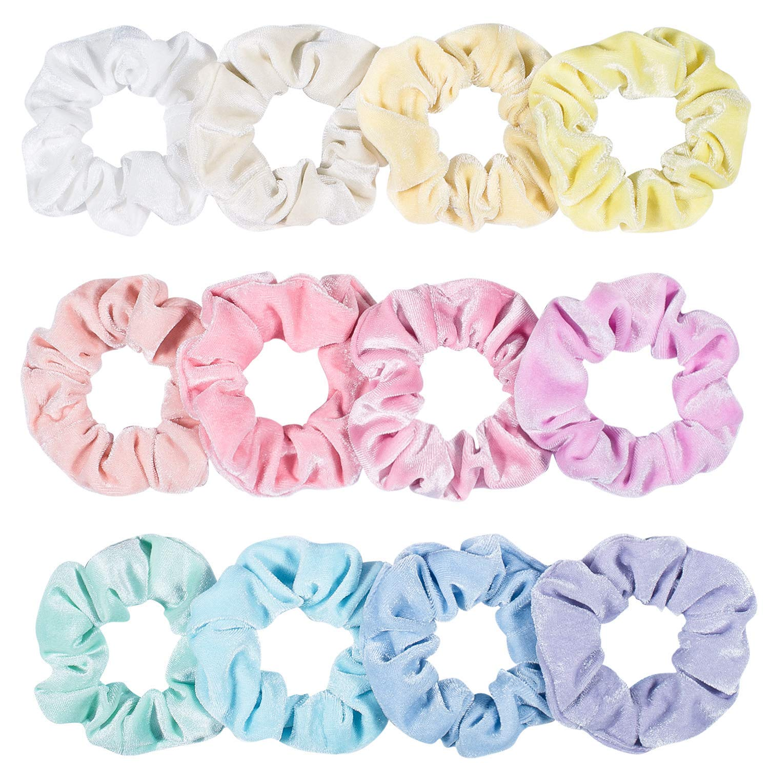 Women's Hair Scrunchies Satin Elastic Hair Bands Scrunchie Hair Ties Ropes Hair Bow Chiffon Ponytail Holder for Women and Ladiesblue by KCMIDOISS