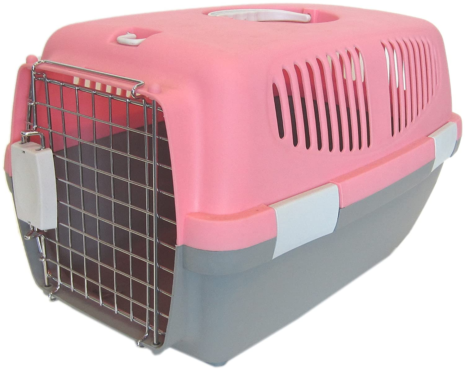 amazoncom  yml large plastic carrier for small animal pink  - amazoncom  yml large plastic carrier for small animal pink  petcarriers  pet supplies