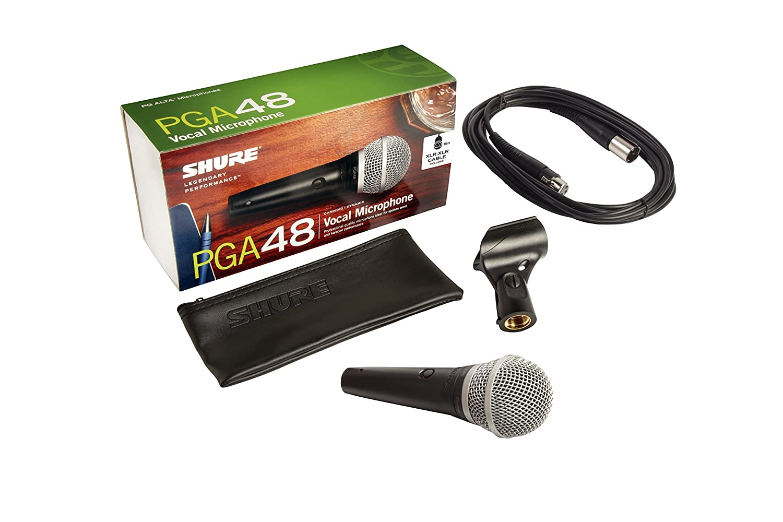 Shure Pga48 Xlr Cardioid Dynamic Vocal Microphone Amplifier Circuit Diagram Musical Instruments