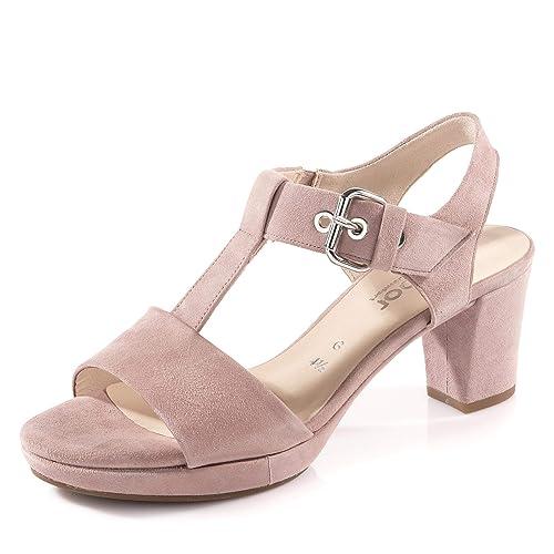 klar in Sicht ankommen schön und charmant Gabor 22.394-35 Damen Elegante Sandalette aus Veloursleder ...