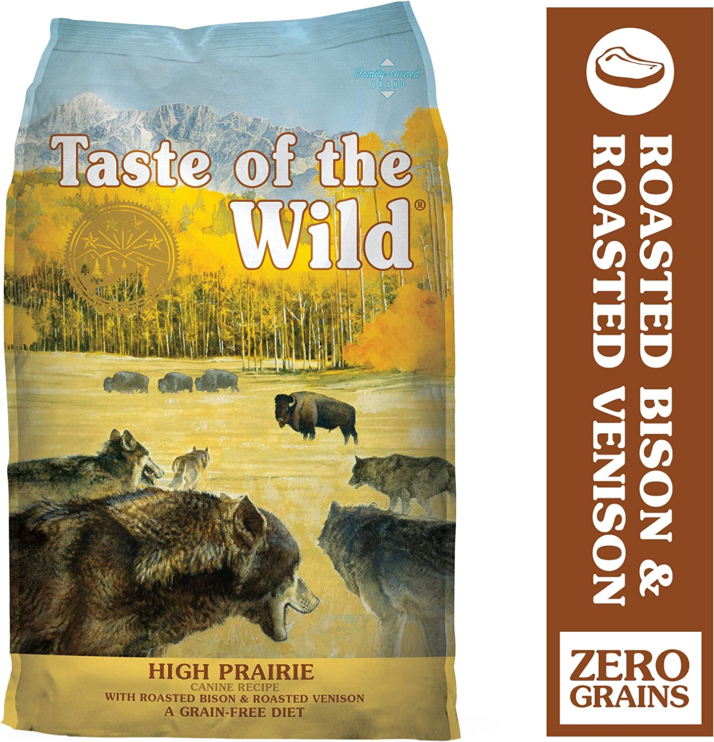 Taste of the Wild High Protein Real Meat Recipe Dry Dog Food with Real Roasted Bison Roasted Venison
