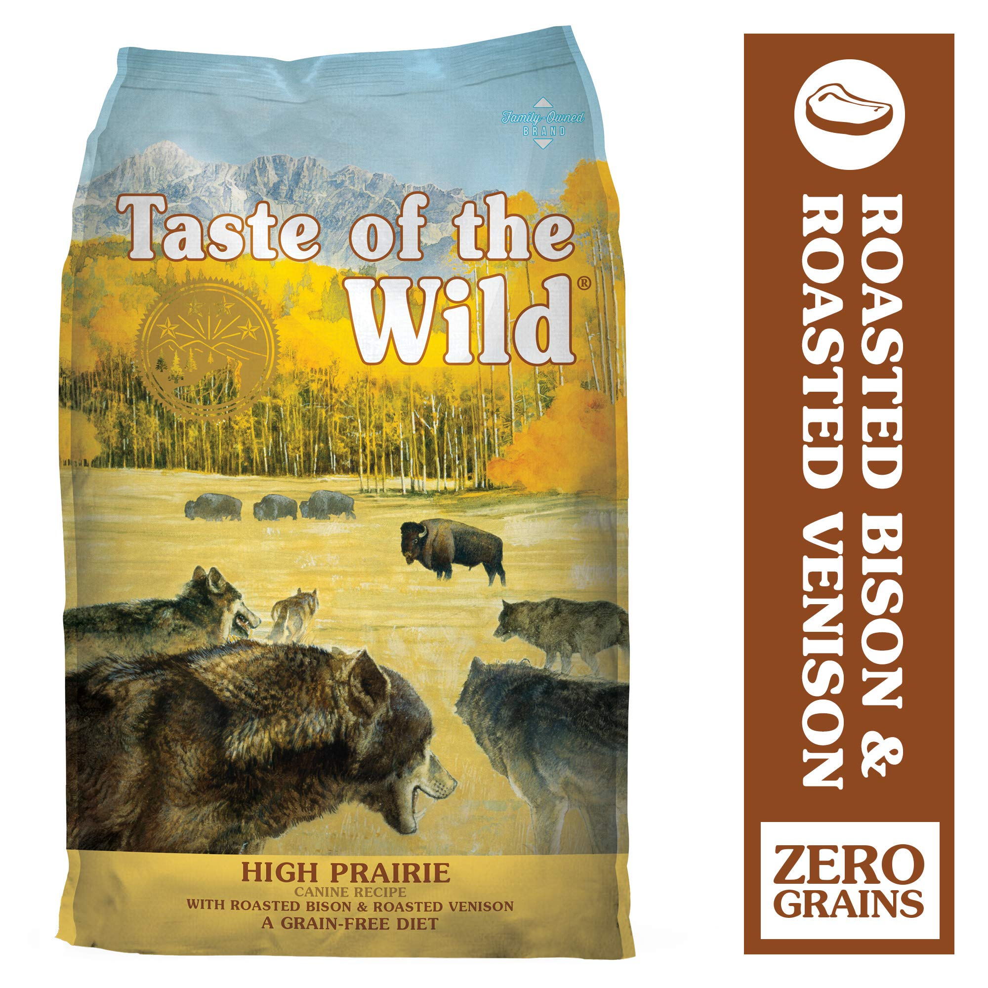Taste of the Wild High Prairie Grain-Free Dry Dog Food with Roasted Bison & Venison 28lb by Taste of the Wild