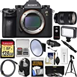 Sony Alpha A9 Wi-Fi 4K Digital Camera Body with 24-240mm Lens + 128GB Card + Backpack + Flash + Tripod + Filters + Kit
