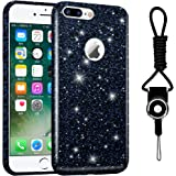 iPhone 7 Plus Case, Hanlesi Shiny Gradient Bling Cover Protective Case for Apple iPhone 7 Plus 5.5 inch, Black