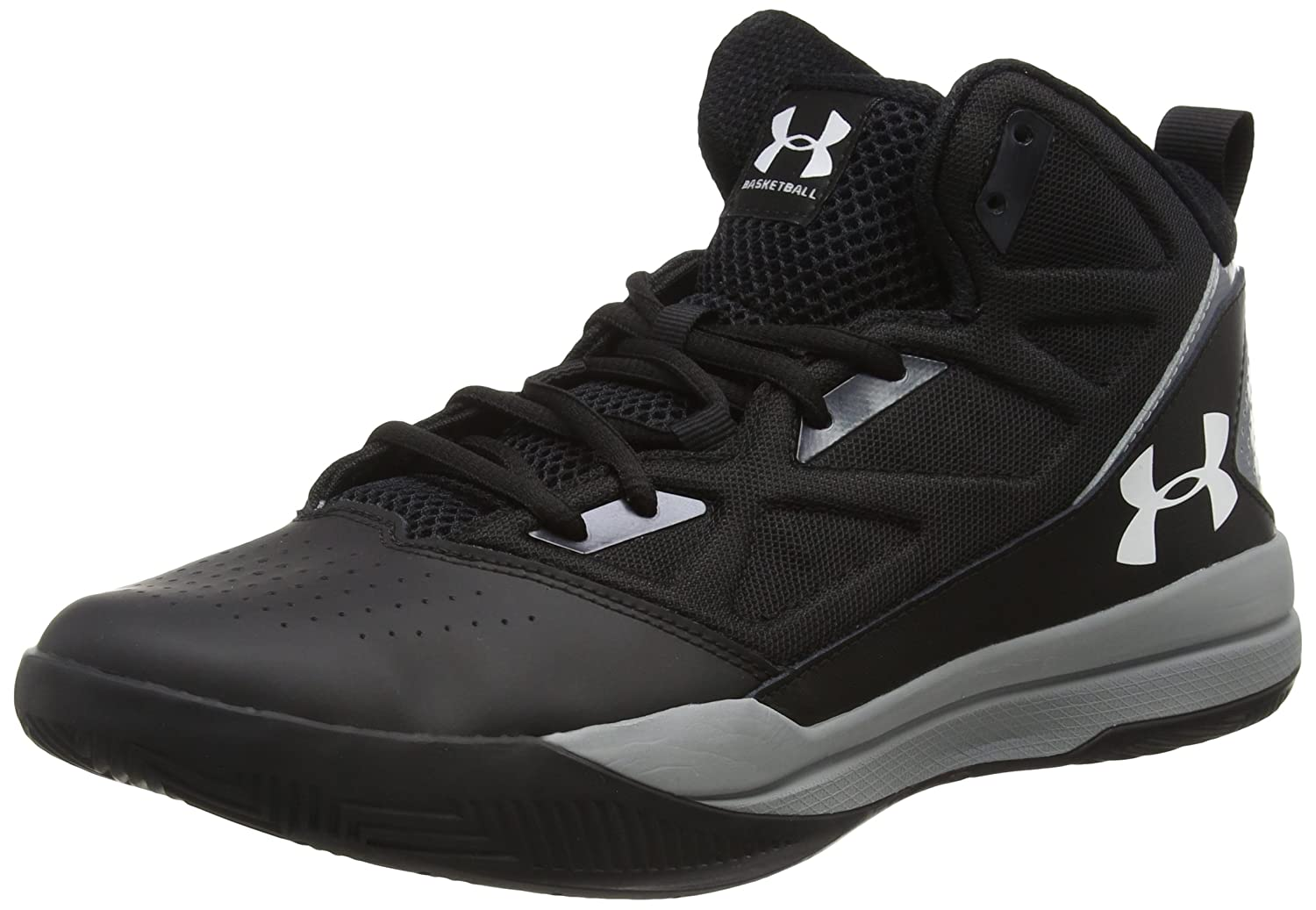 Under Armour Men's Jet Mid Basketball Shoe, Black/Steel/White B0182NEYY4 11.5 D(M) US|Black (001)/Steel