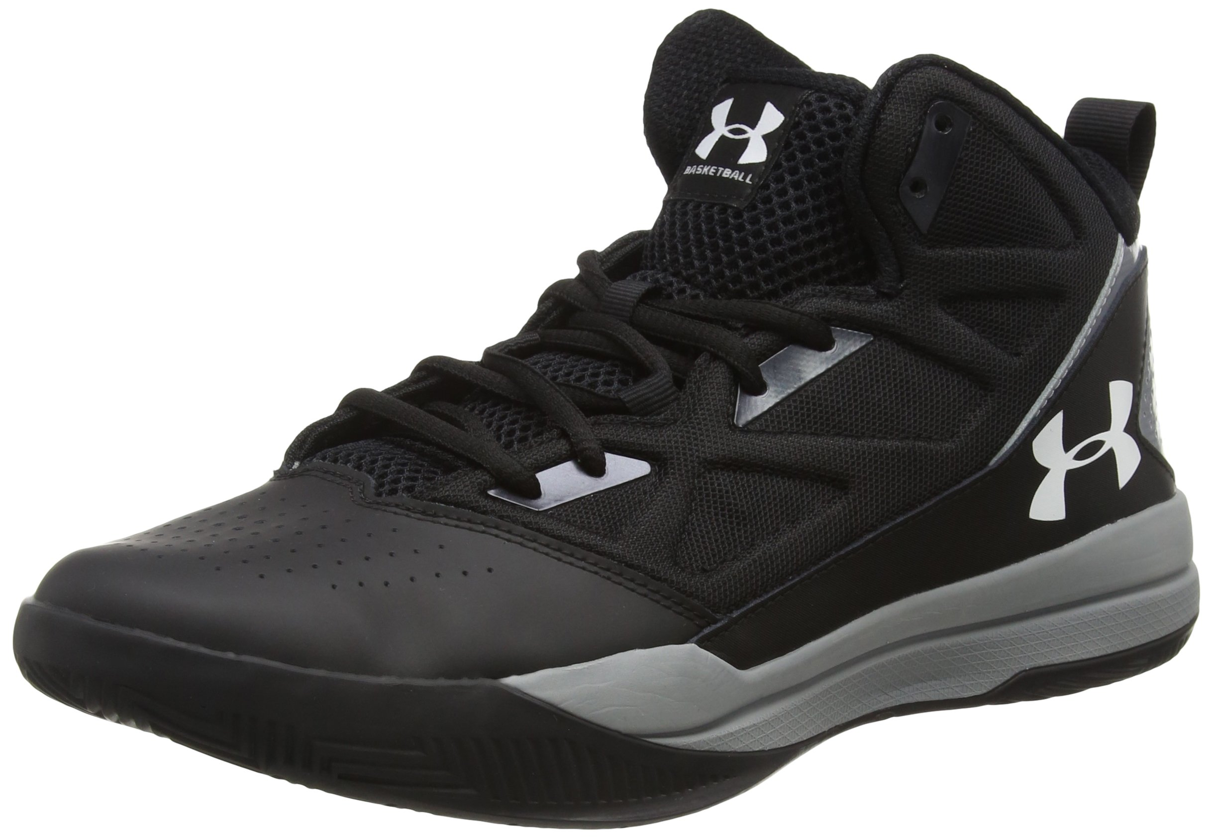 Under Armour Men's Jet Mid, Black (001)/Steel, 10.5 by Under Armour