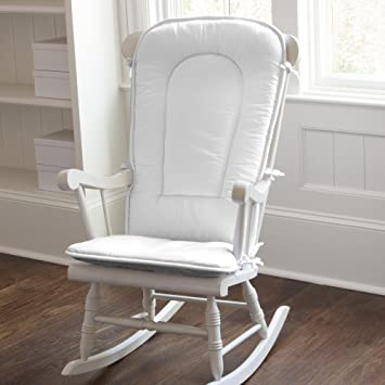 Groovy Carousel Designs Solid White Rocking Chair Pad Dailytribune Chair Design For Home Dailytribuneorg