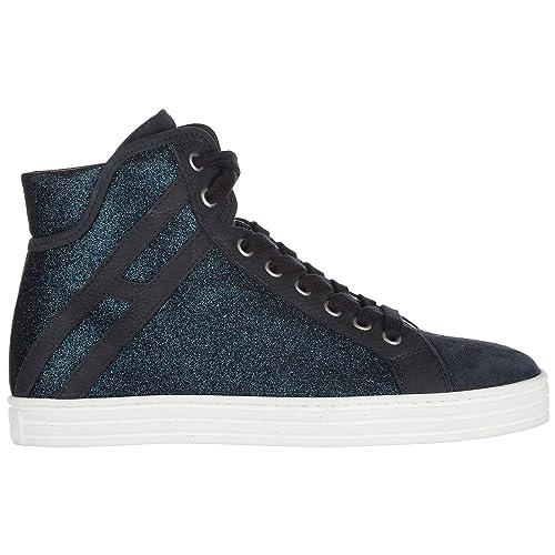 Hogan Rebel Sneakers Alte Donna Blu Denim 38 EU  Amazon.it  Scarpe e borse 82e45afca4c
