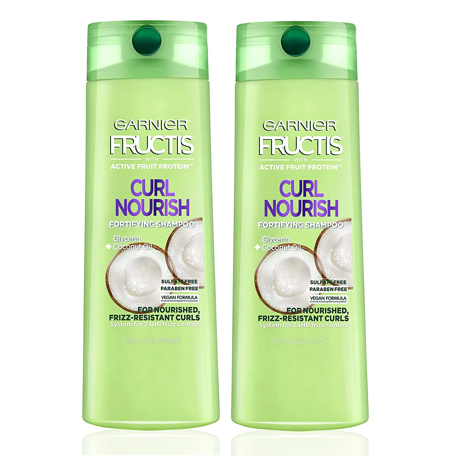 9df61b672a7f Garnier Fructis Curl Nourish Sulfate-Free and Silicone Free Shampoo made  with Coconut Oil and Glycerin...
