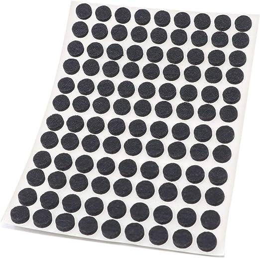 128 x Filzgleiter Schwarz rund 3.5 mm starke selbstklebende Filz-M/öbelgleiter in Top-Qualit/ät /Ø 12 mm Adsamm/®
