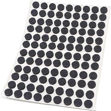 Adsamm/® negro auto-adhesivos Protectores de suelo para patas de mueble con grosor de 3,5 mm de la m/áxima calidad /Ø 10 mm 1080 x almohadillas de fieltro redondo