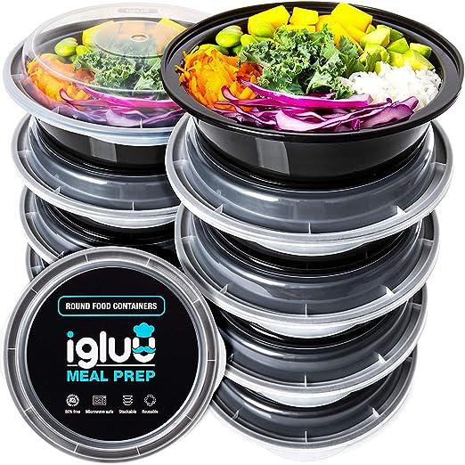 Set de 10) Contenedores Para Comida Circulares De Plástico Sin BPA ...