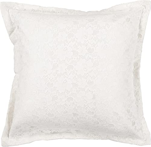 Candice Olson by Surya HCO-607 Machine Made 100 Polyester White 18 x 18 Decorative Pillow
