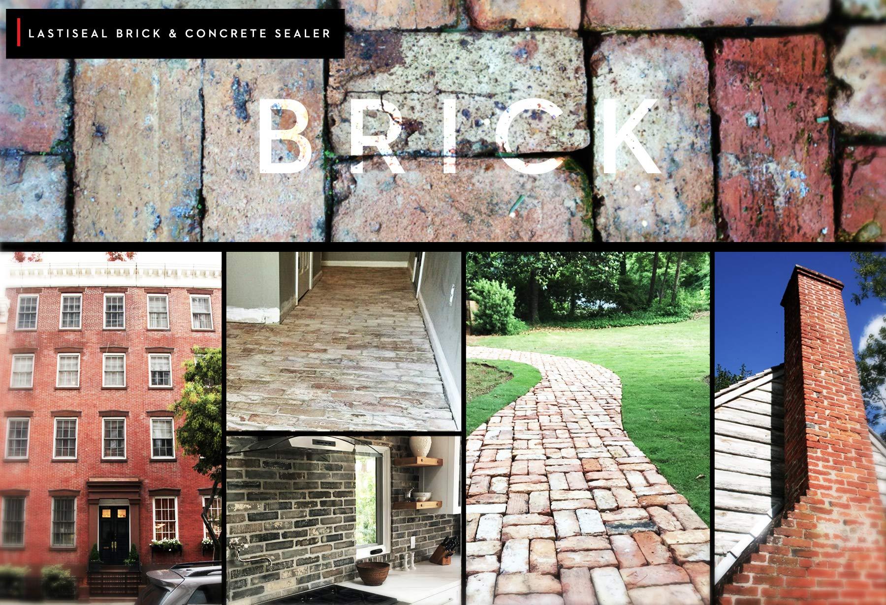 LastiSeal Brick & Concrete Sealer - SATIN Finish (5-gal) | All Purpose Sealer for Brick, Concrete, Stone, Porous Masonry | 15-Year Waterproofing Warranty | Low Gloss Sheen by RadonSeal (Image #2)
