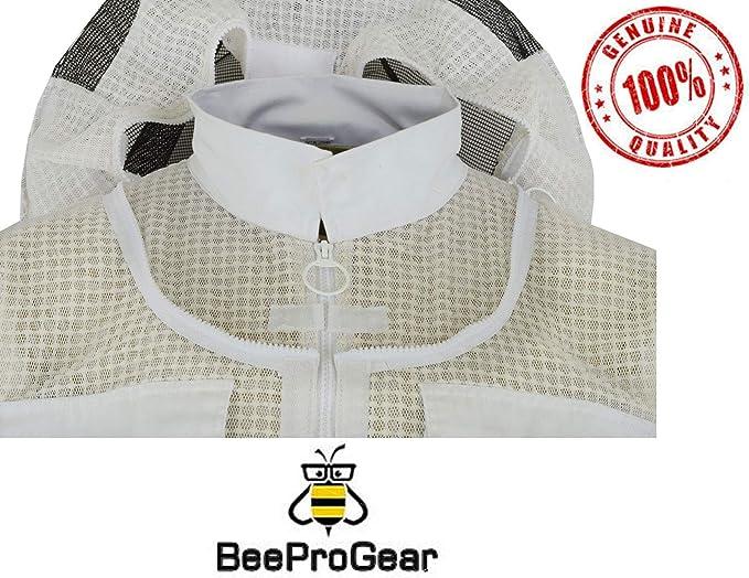 S 3X Layer Safety Unisexe Tissu Blanc Maille Apiculture Veste Apiculture Rond Voile V/êtements De Protection Apiculture V/êtements Apiculture V/êtements De Protection Abeille Ventil/ée Bee Jacket JRV