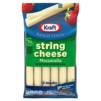 Kraft 12 Count Of String Mozzarella Cheese