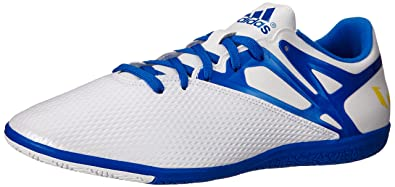 new style 9f7da b26ea adidas Performance Men s Messi 15.3 Indoor Soccer Shoe, White Prime Blue  S12 Core