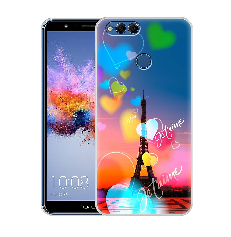 wholesale dealer 72ed5 72523 Fashionury Honor 7X Back Case/Honor 7X Back Cover Printed/Honor 7X Designer  Printed Soft Back Case - P068