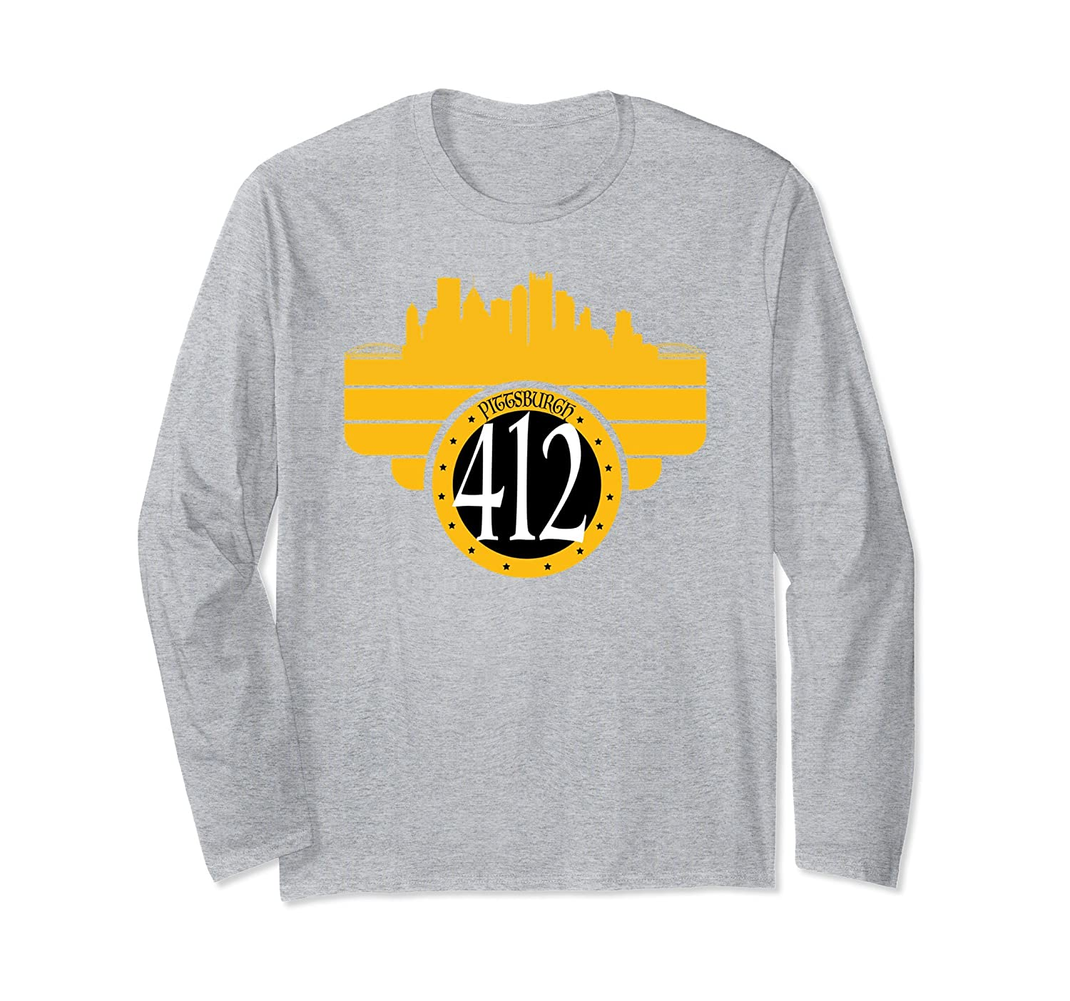 412 Pittsburgh PA Area Code Long Sleeve Pittsburgh Pride-TH