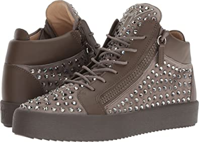 234024c33f13 Giuseppe Zanotti Men s May London Mid Top Studded Sneaker Khaki 40 ...