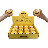 "PartyUpped Emoji Stress Balls Eye-Pop (12-Pack) 2.35"" Fun, Squishy Stress, Tension, Anxiety Relief 