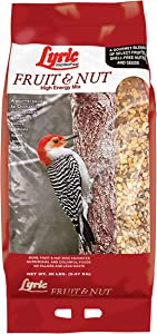 Lyric 2647417 Fruit & Nut High Energy Wild Bird Food, 20 lb