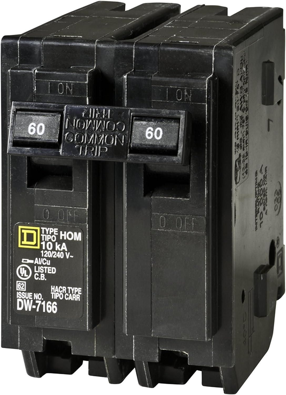 Square D Homeline 60A Double-Pole Standard Trip Circuit Breaker HOM260C 1