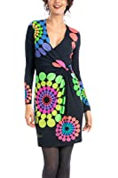 Desigual Charly - Robe - Patineuse - Imprimé - Manches longues - Femme