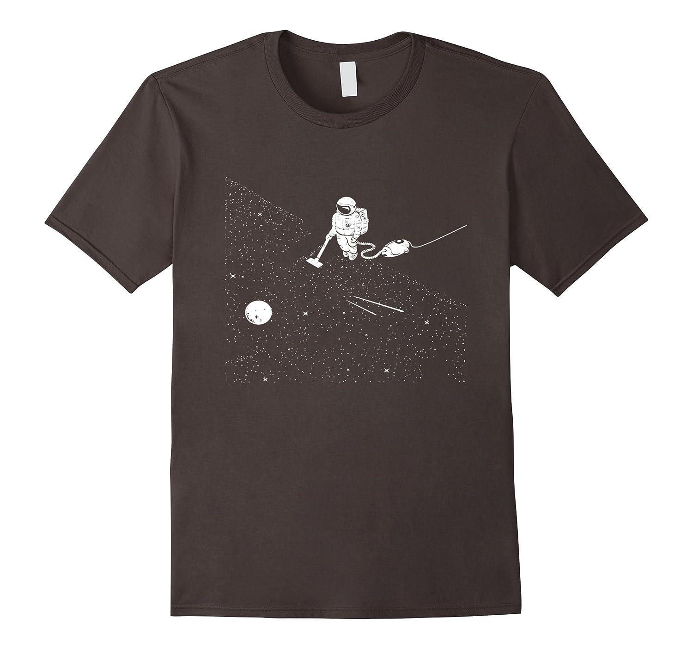 Astronaut vacuuming stars t shirt-RT