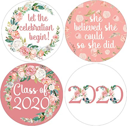 20 Graduation Party Congratulations Class Of 2019 All Purpose Labels Stickers