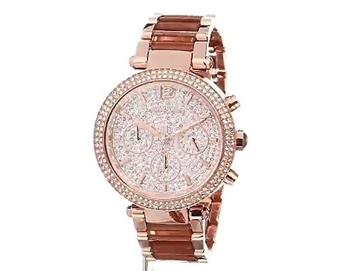 8f00a77c7626 Amazon.com  Michael Kors Women s Parker Rose Gold-Tone Watch MK6285  Michael  Kors  Watches
