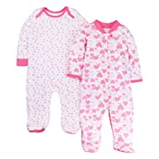 LAMAZE Organic Baby Kids & Baby Girls Baby Organic 2 Pack Sleep N Play, Pink, 9M