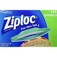 Ziploc Sandwich Bags, Pack of 145 Count