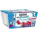 Nestlé Bébé P'tit Brassé Framboise - Laitage dès 6 Mois - 4 x 100g - Lot de 6