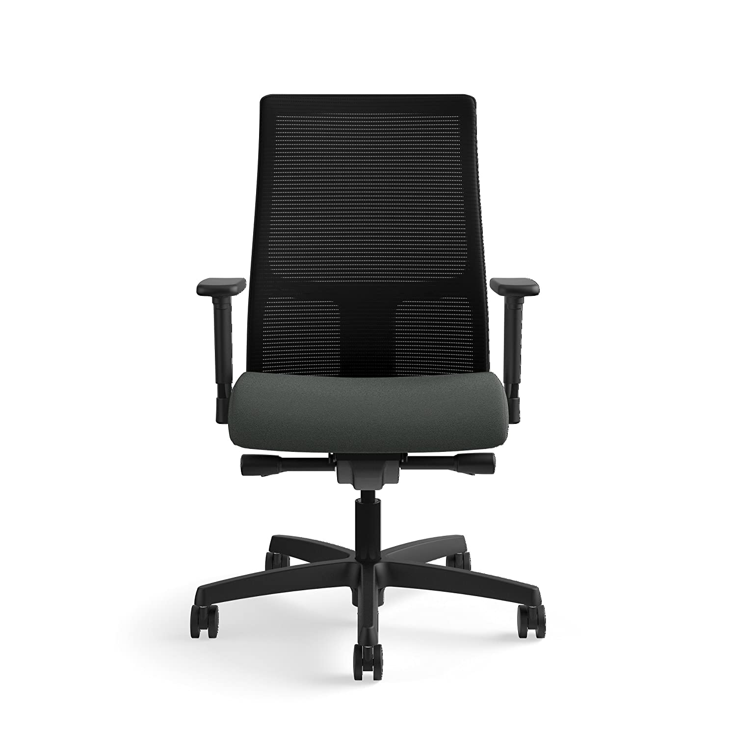 HON Ignition Series Mid-Back Work Chair – Mesh Computer Chair for Office Desk, Iron Ore HIWM2