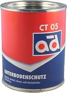Ad Chemie Unterbodenschutz 2 5kg Schwarz Pinseldose Asbestfrei Kautschuk Lange Wirksamkeit Gegen Rost Struesalz Steinschlag 000306orca Auto