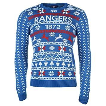 Power Rangers Christmas Jumper.Glasgow Rangers Christmas Jumper Mens Royal Wht Rd Football Soccer Xmas Pullover