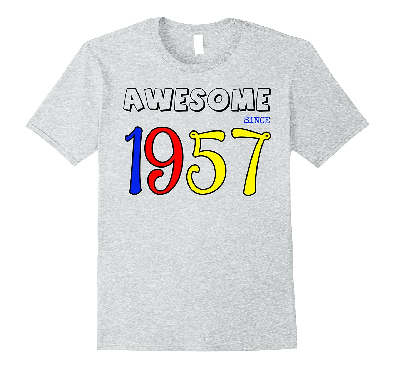 60th Birthday Color Ideas: Happy 1957 Its My 60th Birthday Gift Ideas T Shirt-CD