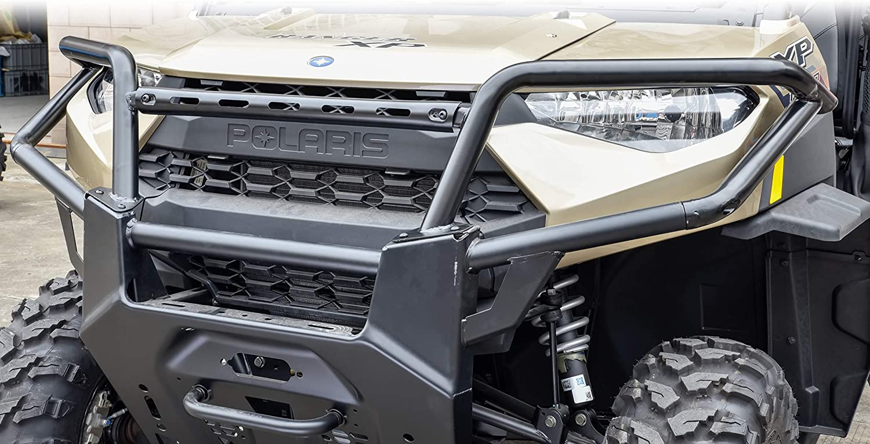 Ranger Front Bumper SAUTVS Upper Front Brush Guard Bumper Protector for Polaris Ranger XP 1000 Crew Diesel 2018-2021 OEM Style #2882531