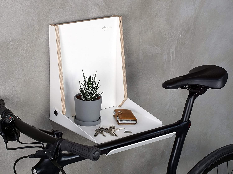 L-Rack passend f/ür Rennrad Hardtail Cityrad Tourenrad PARAX Stilvolle Fahrrad-Wandhalterung//Fahrradaufbewahrung//Wandhalter Fahrrad Made in Germany schwarz oder wei/ß