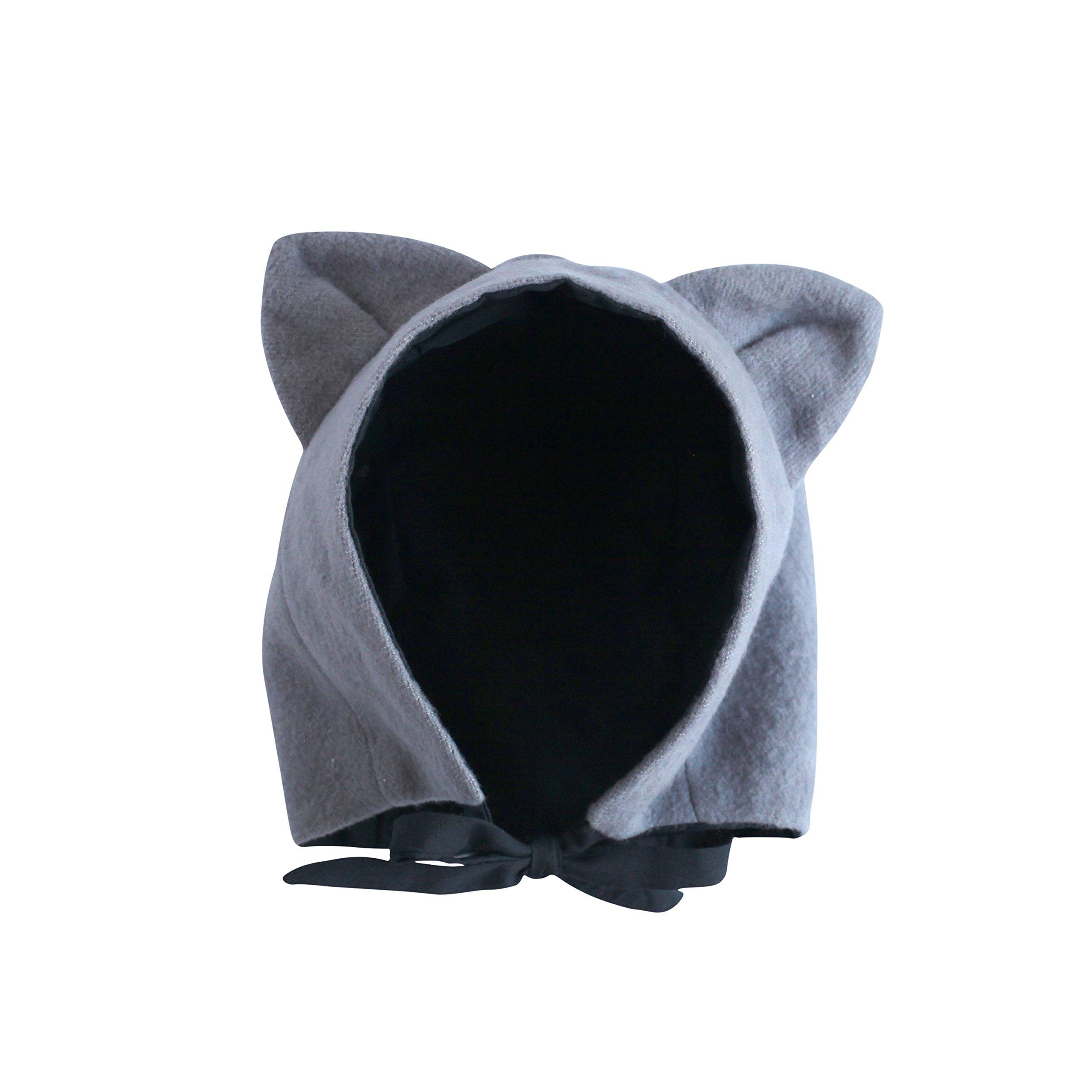 EllieFunDay Brushed Flannel Cat Hat, 2T-4T