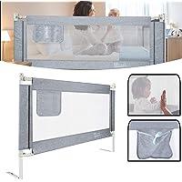 Aufun Babysängspjälskydd för barn sängskydd med vertikalt lyft och enhandshantering för att skydda mot fall för spädbarn…