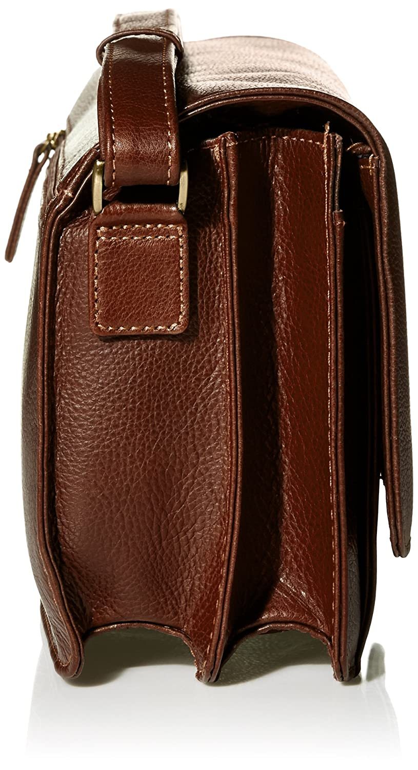 Derek Alexander East//west Half Flap Multi Compartment Whisky