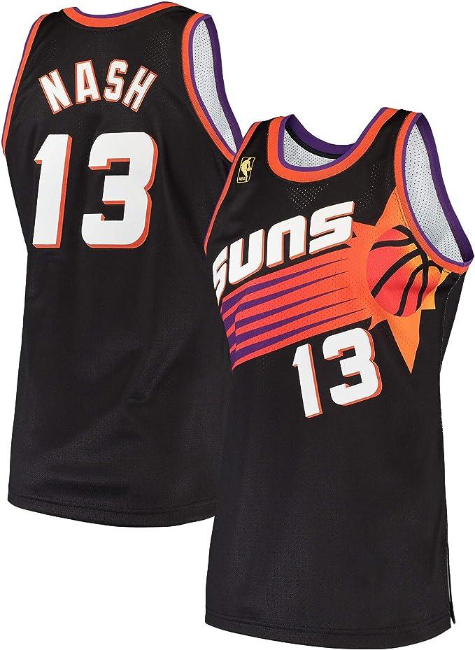 Mens Nash Shirts Jerseys 13 Basketball Adult/Sports Athletics Retro Steve Black