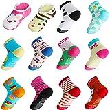 Lictin 14 Pares Antideslizante Calcetines Calcetines Calcetines de niño Talla 2-3 años de Edad los niños Surtidos Animal…